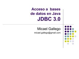 Acceso a Base de Datos desde Java JDBC 4.0
