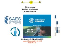 Dr. Carlos D. TRAD FAGER