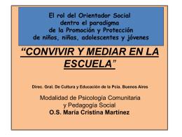 El rol del Orientador Social dentro el paradigma de la Promoción y
