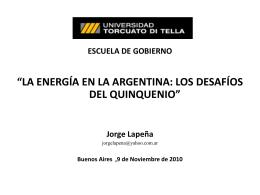 1.- el sector energetico argentino en 2010 2. - IAE
