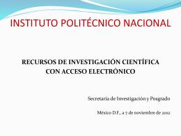 recursos digitales de información científica y tecnológica