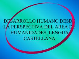 desarrollo humano desde la perspectiva del area de humanidades