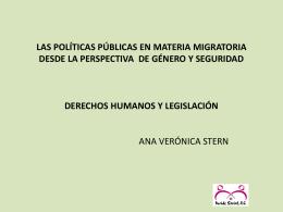 las políticas públicas en materia migratoria desde la