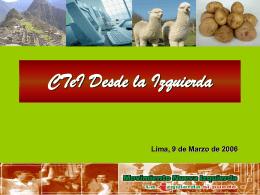CTeI Desde la Izquierda - Universidad Nacional de Ingeniería