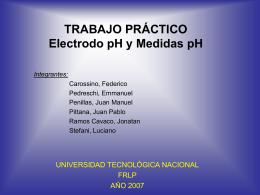 TRABAJO PRÁCTICO: Electrodo pH y Medidas pH