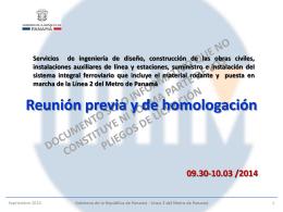 Presentación - El Metro de Panamá