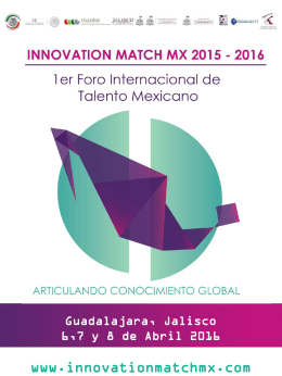 Presentación IMMX - Innovation Match MX