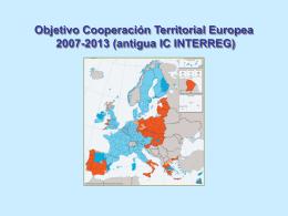interreg iv, objetivo de cooperación territorial europea