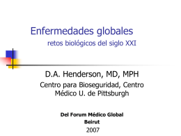 Global Diseases biological challenges of the 21st Century in Spanish