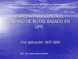 Sistema para Control Urbano de rutas basado en