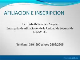 exposicion afiliacion - direccion de salud v