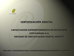 Presentación Corporativa Certicámara