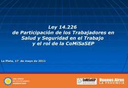 Presentacion Ley 17-05-2011