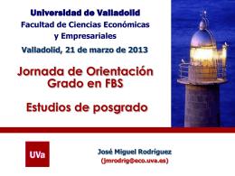 Diapositiva 1 - Facultad de Ciencias Económicas y Empresariales