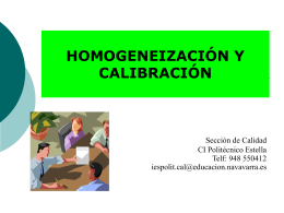 homogeneización y calibración