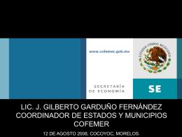 Diapositiva 1 - Foro Nacional sobre Federalismo y Descentralización