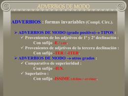 ADVERBIOS DE MODO - IES Fuente de la Peña
