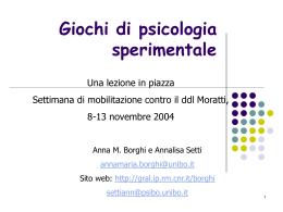 Giochi di psicologia sperimentale