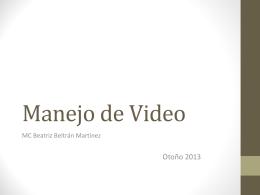 Manejo de Vídeo