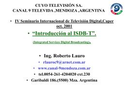 El modo 1 - Canal 9 Televida