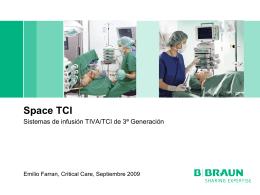 Space TCI Sistemas de infusión TIVA/TCI de 3ª