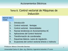 Control vectorial de máqinas de inducción - OCW