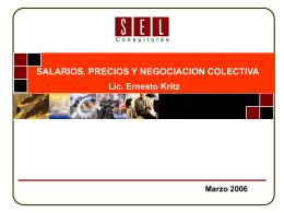 SALARIOS, PRECIOS Y NEGOCIACION COLECTIVA