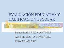 EVALUACIÓN EDUCATIVA Y CALIFICACIÓN ESCOLAR