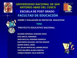 Proyecto educativo nacional - Página web de Valia Maritza