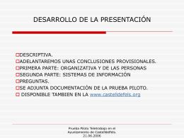 DESARROLLO DE LA PRESENTACIÓN