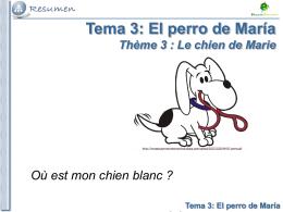 Tema 3: El perro de María Tema 1