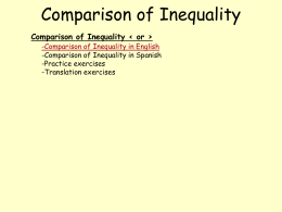 Comparison of Inequality in Spanish