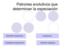 Patrones evolutivos que determinan la especiación