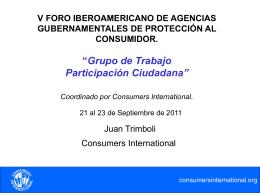 presentó los resultados - Consumers International