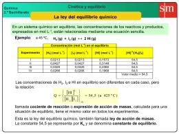 1 ley del equilibrio químico