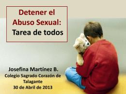 Detener el Abuso Sexual - Colegio Sagrado Corazón de Talagante