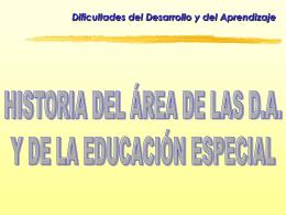 educación especial y dificultades de aprendizaje