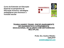 Curso de Extensão em Educação Especial na perspectiva