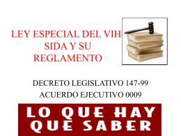 ley especial del vih-sida y su reglamento