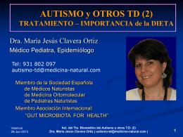 Dieta especial para Autismo y TD