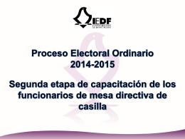PPT capacitación - Instituto Electoral del Distrito Federal