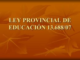 power legislación ley Prov.ed. Especial