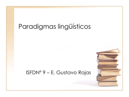 Paradigmas lingüísticos