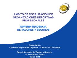 Comisión especial de Deportes - Superintendencia de Valores y