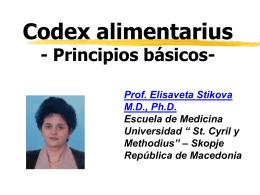 Codex alimentarius - Principios básicos-