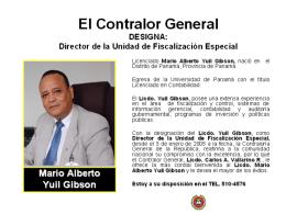 Diapositiva 1 - Contraloría General de la República