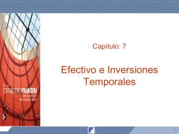 Capítulo 7 Efectivo e inversiones temporales
