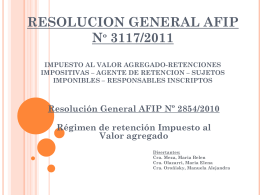 Resolución General AFIP Nº3117/2011