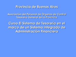 SISTEMA DE TESORERIA INTRODUCCION (Jorn. TGP