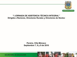 Diapositiva 1 - Plan Nacional Decenal de Educación 2006-2016